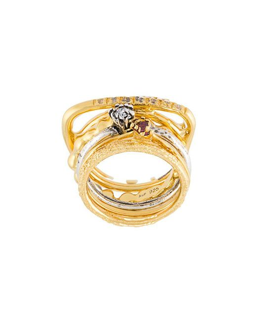 Iosselliani - Metallic 'silver Heritage' Ring Set - Lyst