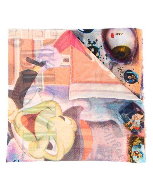 Faliero Sarti Pinocchio プリントスカーフ Multicolor