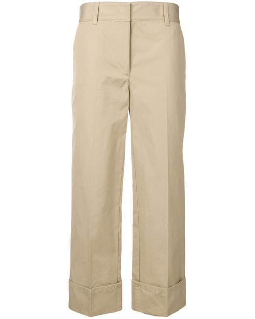 Prada Pantalones anchos de vestir de mujer de color neutro