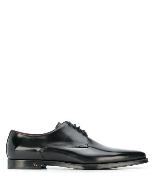 Туфли С Заостренным Носком Dolce & Gabbana для него, цвет: Black