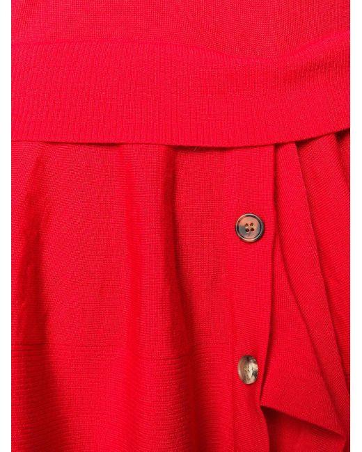 Многослойный Топ С Круглым Вырезом Alexander McQueen, цвет: Red