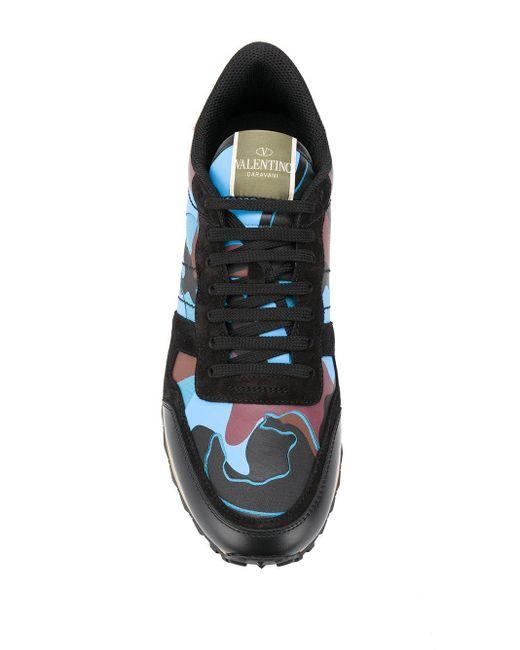 Baskets Rockrunner à motif camouflage Valentino Garavani pour homme en coloris Black