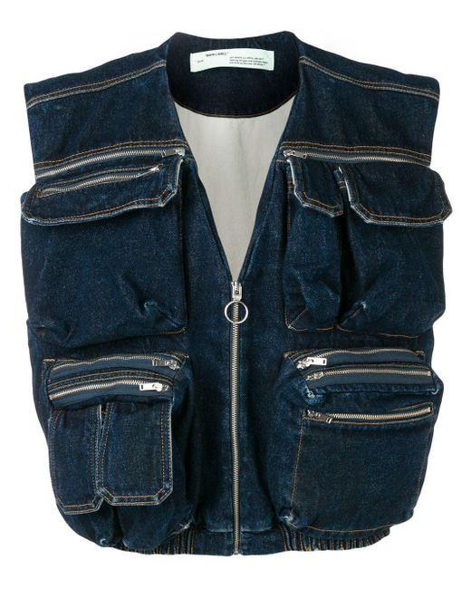 Off-White c/o Virgil Abloh Blue Denim Multipocket Vest for men