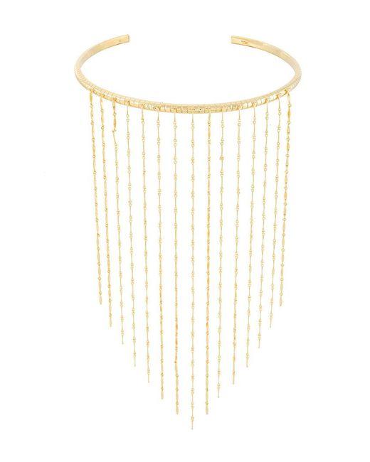 Ivi - Metallic 'dalhia' Rail Fringe Necklace - Lyst