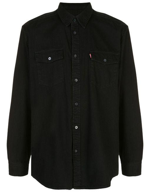 メンズ WARDROBE.NYC ロゴパッチ ポケットシャツ Black