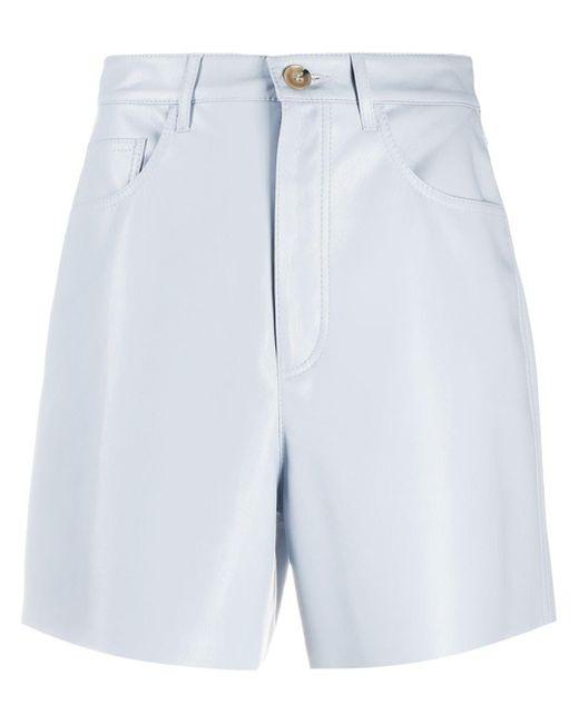 Nanushka Blue Leana High-waisted Shorts