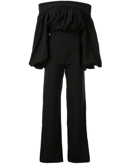 Combinaison Berza à épaules dénudées Silvia Tcherassi en coloris Black