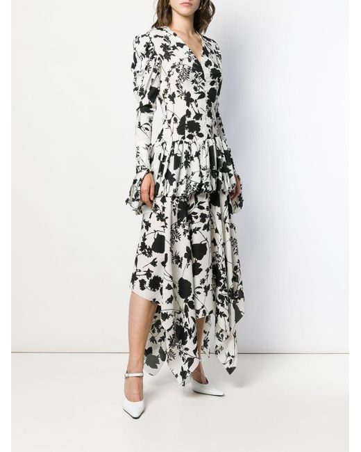 Robe longue à fleurs Matériel en coloris White