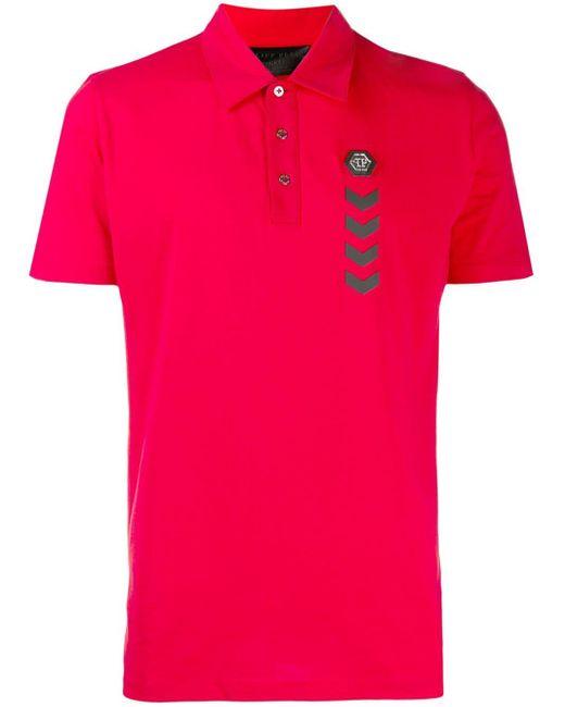 メンズ Philipp Plein Statement ポロシャツ Pink