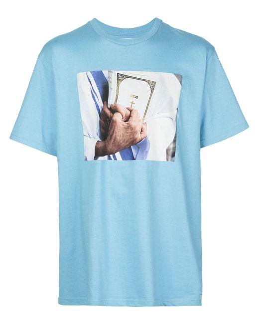 メンズ Supreme Bible Tシャツ Blue