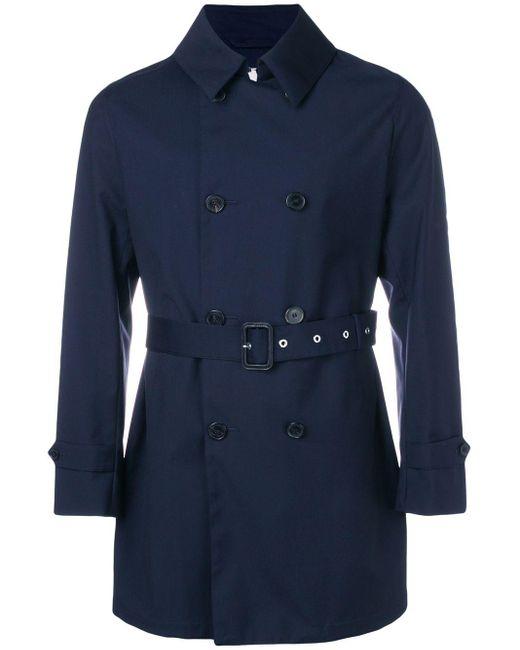 Mackintosh 'Storm System' Trenchcoat in Blue für Herren