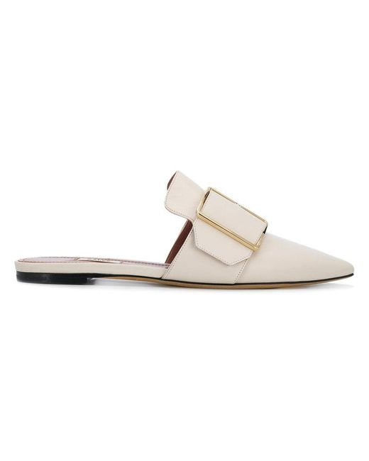 Bally - Multicolor Buckled Front Mules - Lyst