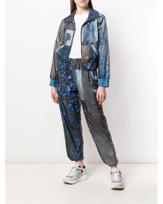 Pantalon de jogging imprimé Natasha Zinko en coloris Gray