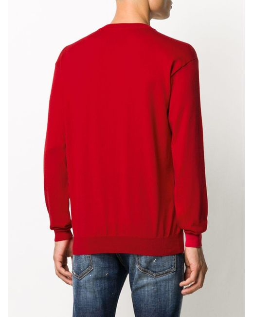 メンズ Moschino テディベア スウェットシャツ Red