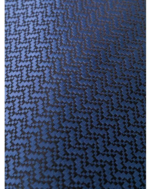 メンズ Tom Ford シェブロン ネクタイ Blue