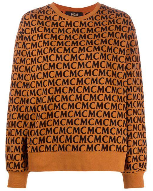 MCM ロゴ スウェットシャツ Brown