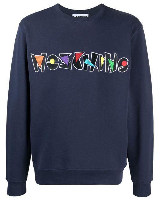 Толстовка С Вышитым Логотипом Moschino для него, цвет: Blue
