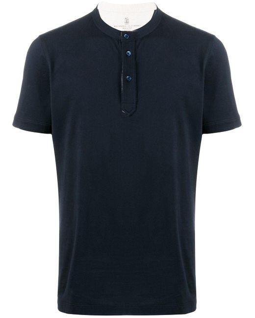 メンズ Brunello Cucinelli クルーネック Tシャツ Multicolor