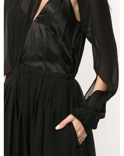 Платье Миди Асимметричного Кроя С Вырезами N°21, цвет: Black