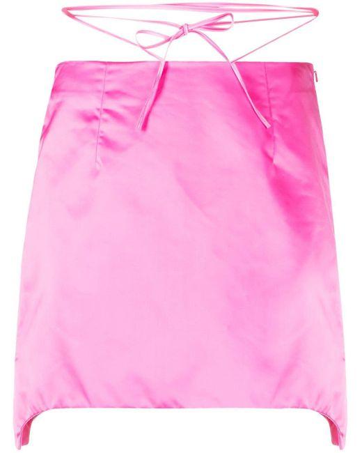 Helmut Lang サテン ミニスカート Pink
