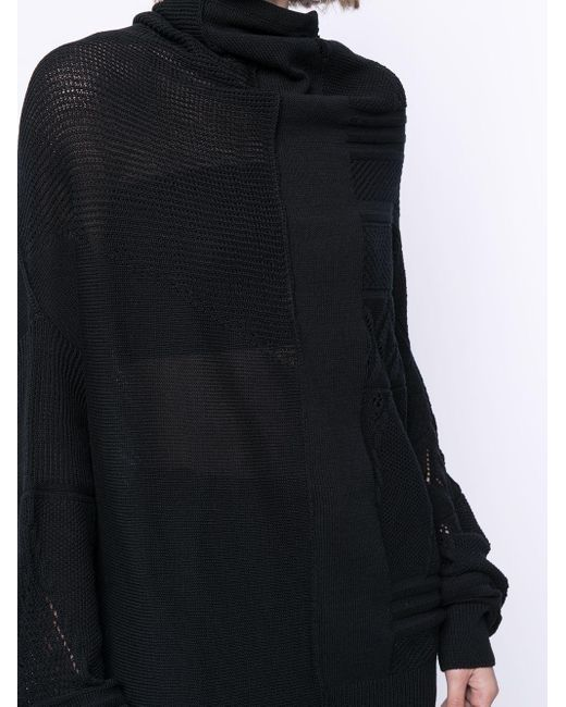 Y's Yohji Yamamoto パネルニット セーター Black