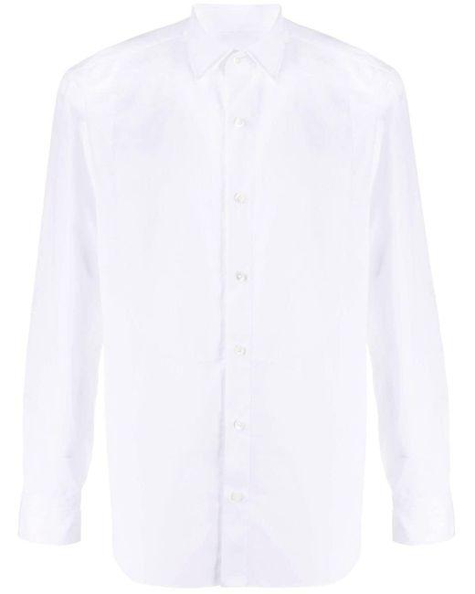 メンズ Salvatore Piccolo テクスチャードビブシャツ White