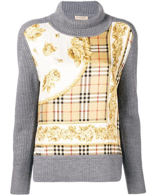 Burberry スカーフプリント セーター Multicolor