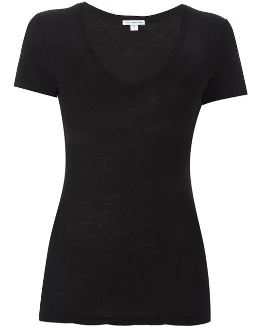 James Perse スクープネック Tシャツ Black