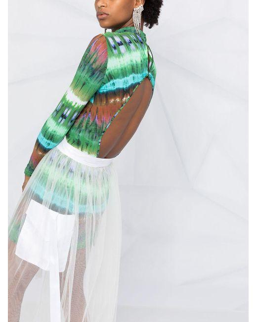 Loulou シアー エプロンスカート White