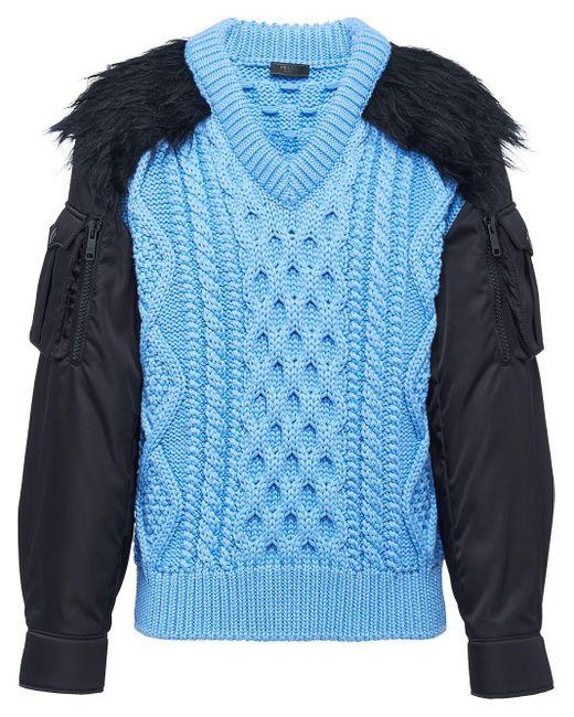 Maglione di Prada in Blue da Uomo