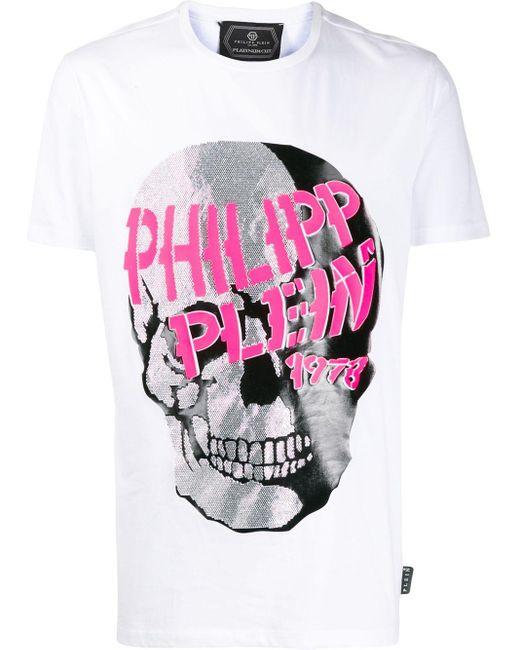 メンズ Philipp Plein スカル Tシャツ White