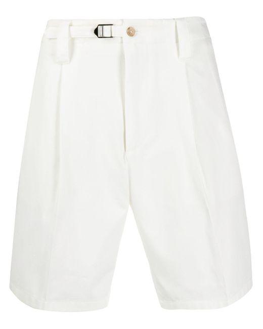 Шорты Со Складками Dolce & Gabbana для него, цвет: White