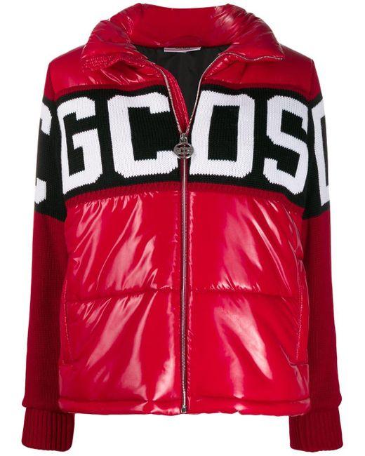 Gcds パデッドジャケット Red