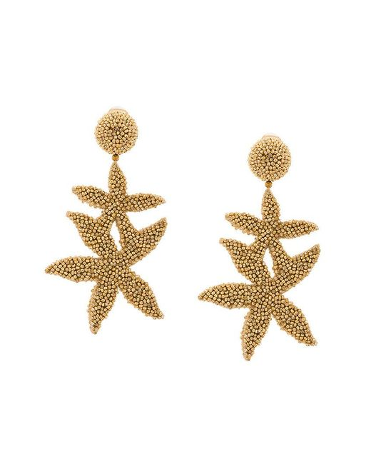 Oscar de la Renta - Metallic Double Starfish Earrings - Lyst