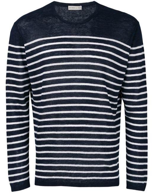 メンズ Etro ボーダーtシャツ Blue