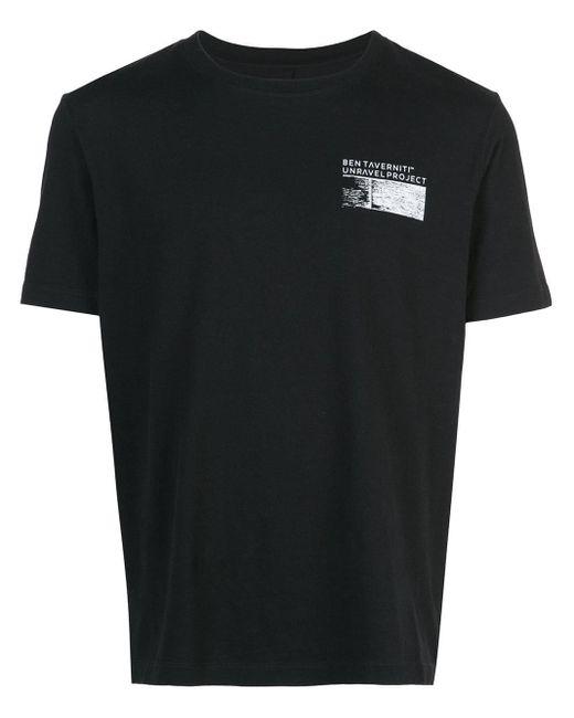メンズ Unravel Project ロゴ Tシャツ Black