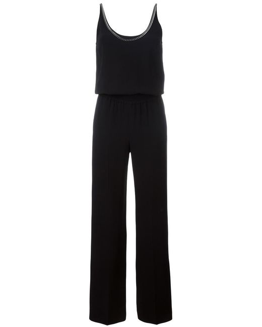 Stella McCartney   Black Back Chain Trim Jumpsuit   Lyst