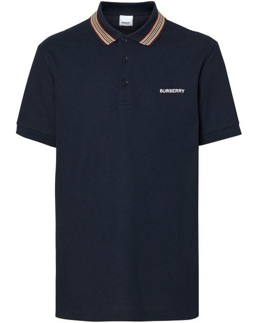 メンズ Burberry ポロシャツ Blue
