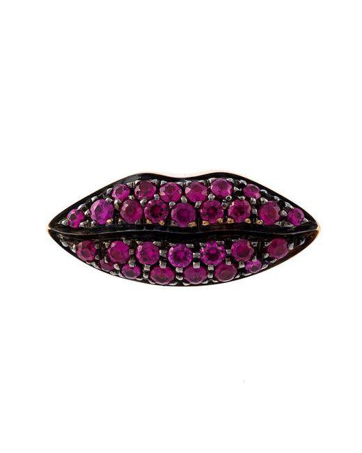 Delfina Delettrez - Red 'lips' Ruby Earring - Lyst