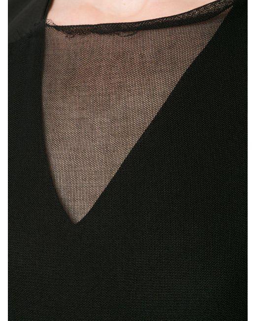 Yang Li シアーパネル ドレス Black