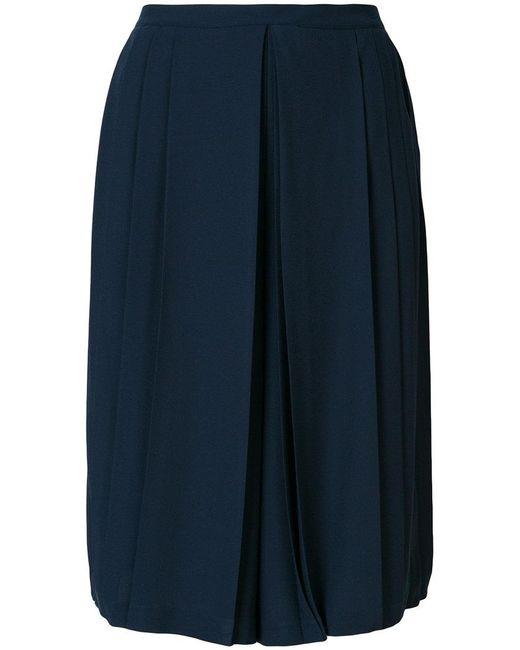 Tory Burch - Blue Pleated Midi Culottes - Lyst