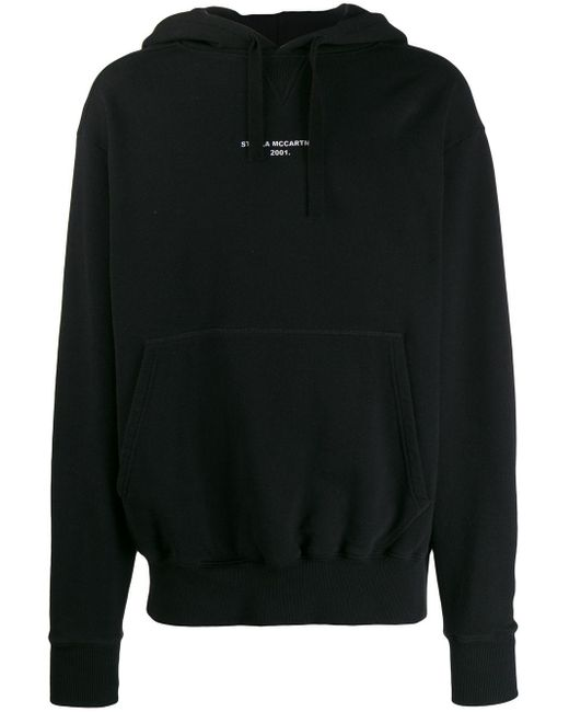 Sweat à capuche à logo imprimé Stella McCartney pour homme en coloris Black