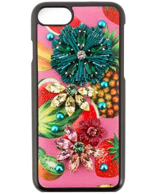 Dolce & Gabbana 装飾 Iphone 6 カバー Black