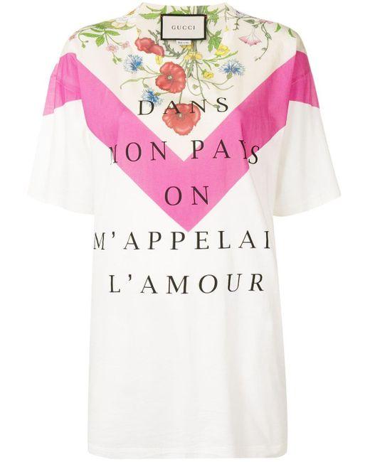 Gucci Dans Mon Pays On M'appelai L'amour Tシャツ Multicolor