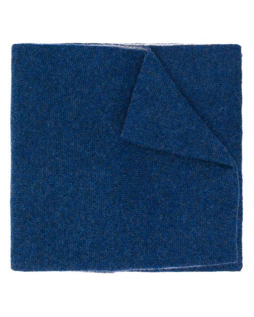 メンズ Dell'Oglio カシミア バイカラー スカーフ Blue
