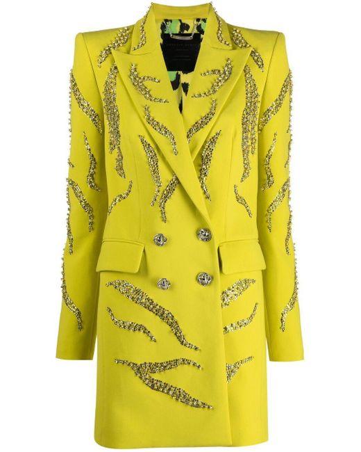 Philipp Plein ダブルジャケットドレス Yellow