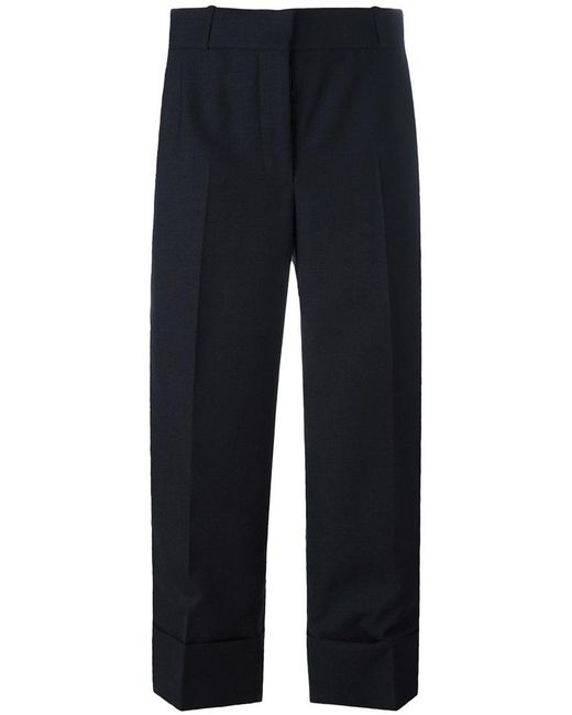 Thom Browne - Blue Wide Leg Cropped Pants - Lyst