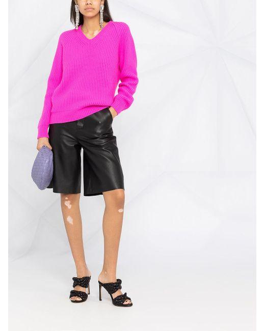 Jersey de canalé con cuello en V Tom Ford de color Pink