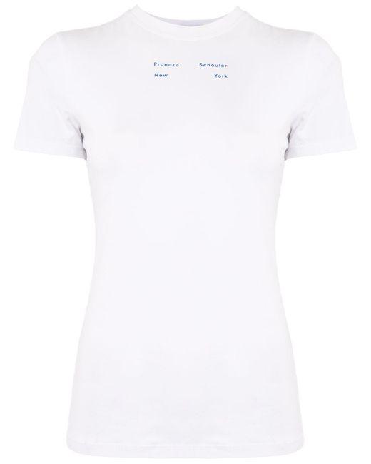PROENZA SCHOULER WHITE LABEL White Logo-print T-shirt