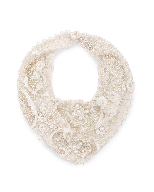 Mignonne Gavigan - White Pearl Scarf Necklace - Lyst